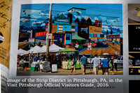 The Strip District image in Visit Pittsburgh publication